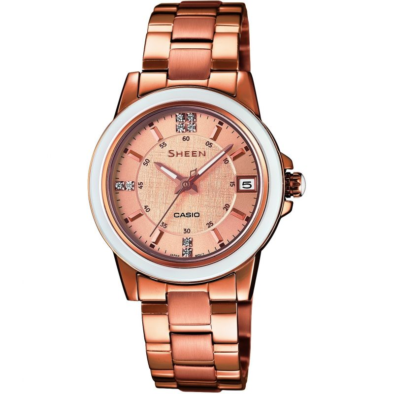 Ladies Casio Sheen Watch SHE-4512PG-9AUER