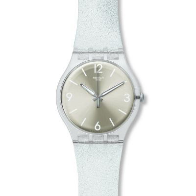 Swatch Originals New Gent Mirrormellow Unisexuhr in Silber SUOK112