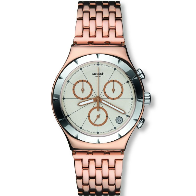 Unisex Swatch Pushback Chronograph Watch