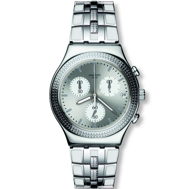 Unisex Swatch Crystal Cascade Chronograph Watch