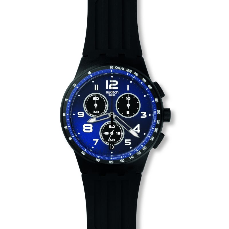 Mens Swatch Nitespeed Chronograph Watch SUSB402