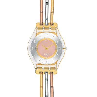 Ladies Swatch Skins Tri-Gold Small Watch SFK240B
