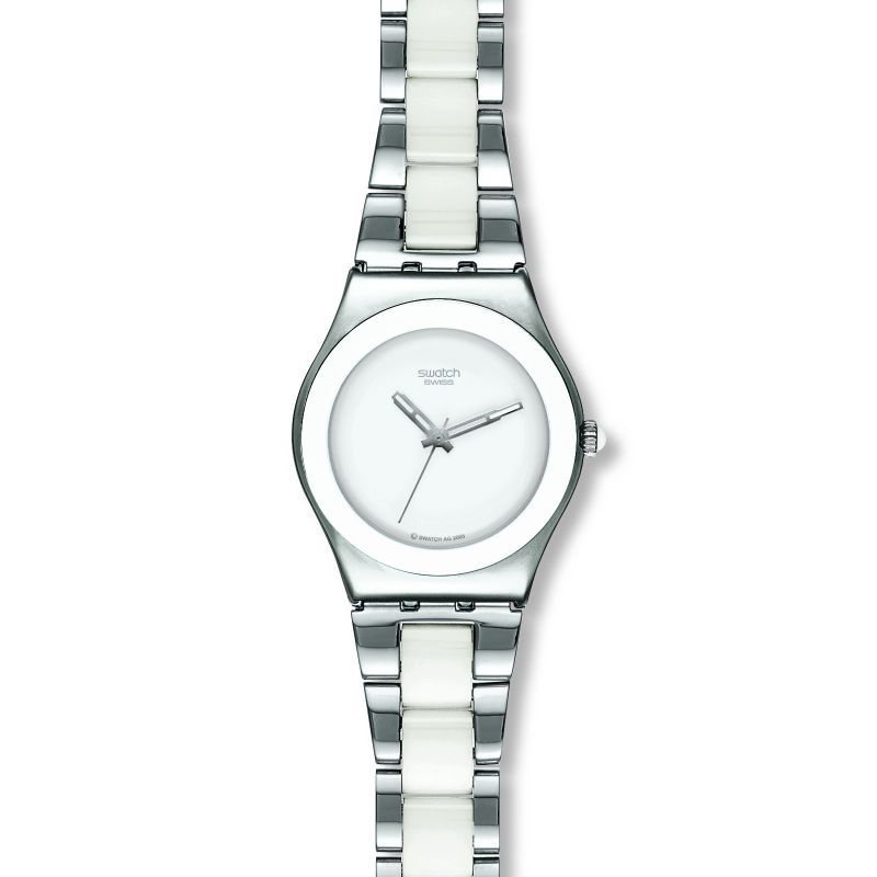 Ladies Swatch Tresor Blanc Watch YLS141GC
