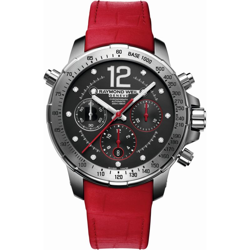 Ladies Raymond Weil Nabucco BRIT Awards 2014 Limited Edition Titanium Automatic Chronograph Diamond Watch