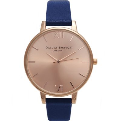 Sunray Rose Gold & Navy Watch