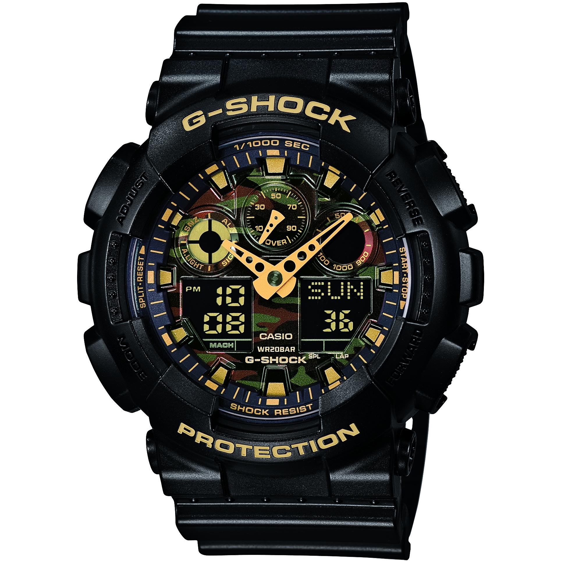 c5569d38d3bf Gents Casio G-Shock Alarm Chronograph Watch (GA-100CF-1A9ER ...