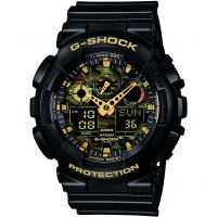 Mens Casio G-Shock Alarm Chronograph Watch GA-100CF-1A9ER