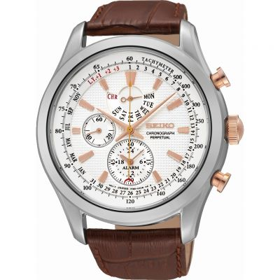Mens Seiko Alarm Chronograph Watch SPC129P1
