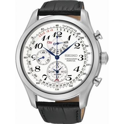 Mens Seiko Alarm Chronograph Watch SPC131P1