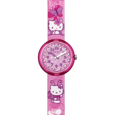 Flik Flak Hello Kitty Butterfly Kinderuhr in Pink FLNP005