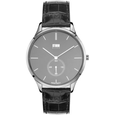 Mens STORM BLACK Trigma Watch TRIGMA-SILVER