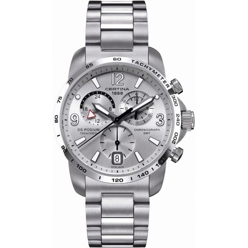 Mens Certina DS Podium GMT Chronograph Watch C0016391103700