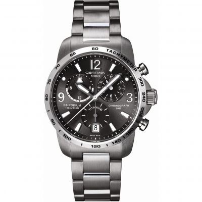 Mens Certina DS Podium GMT Titanium Chronograph Watch C0016394408700