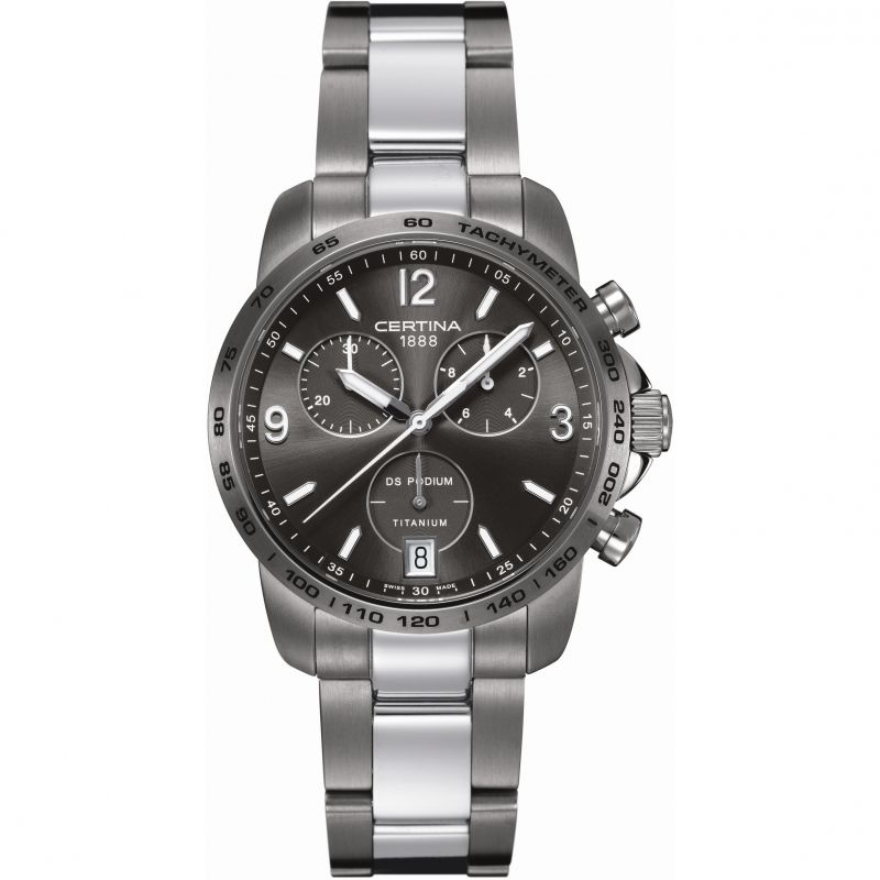 Mens Certina DS Podium Titanium Chronograph Watch