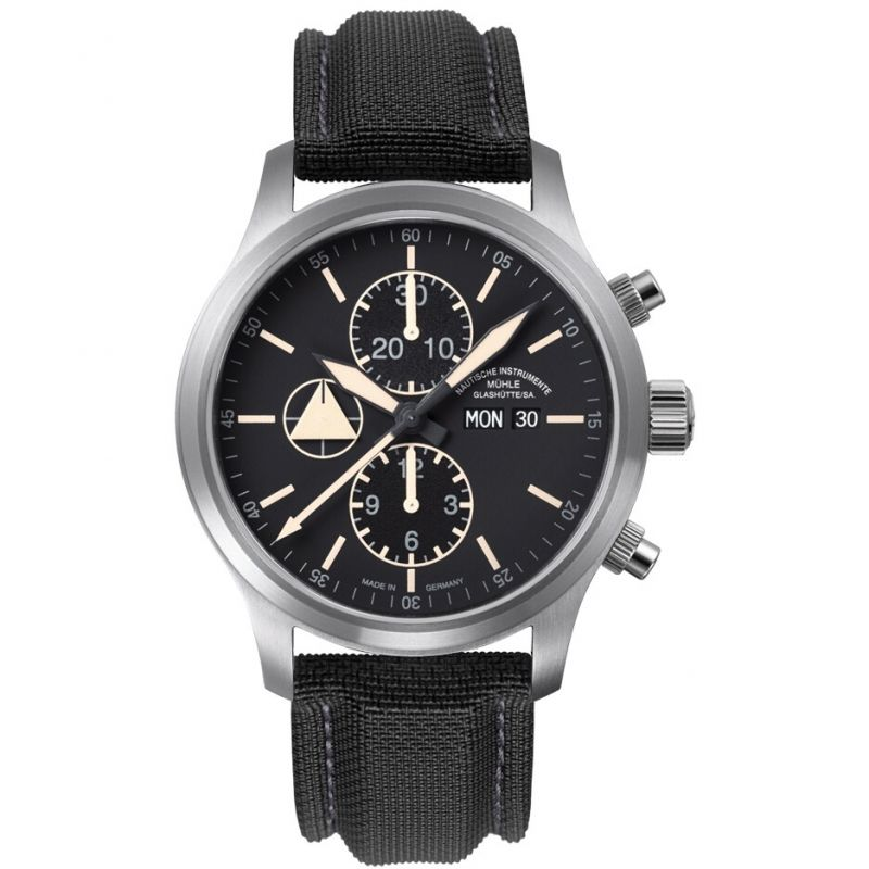 Mens Muhle Glashutte Terranaut I Trail Automatic Chronograph Watch