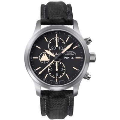 Mens Muhle Glashutte Terranaut I Trail Automatic Chronograph Watch M1-40-53-LB