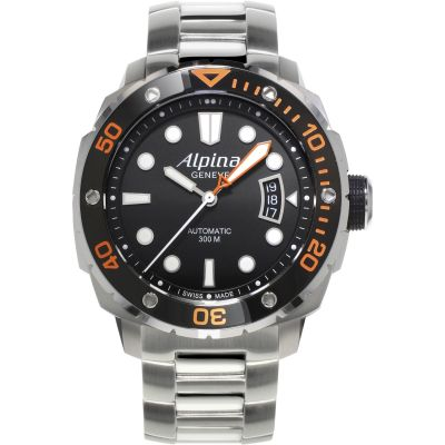 Mens Alpina Seastrong Diver Automatic Watch AL-525LBO4V26B