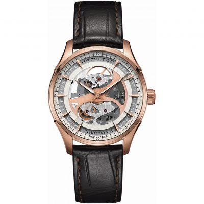 Hamilton Jazzmaster Viewmatic Skeleton Herenhorloge Zwart H42545551