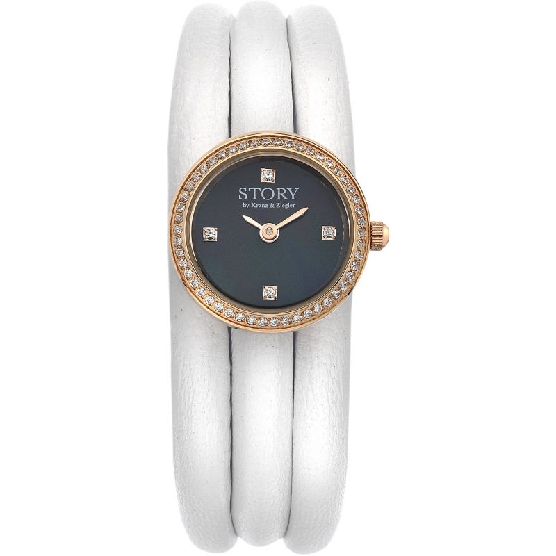Ladies Story Watch White Lambskin Watch 1904513-57
