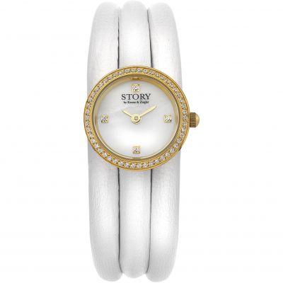 Story Watch White Lambskin Dameshorloge Wit 1904516-57