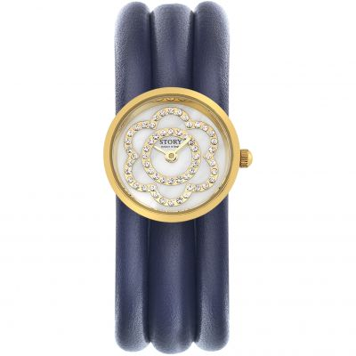Ladies Story Watch Aubergine Lambskin Watch 1904536-57