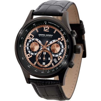 Mens Jorg Gray Signature Chronograph Watch JGS3570