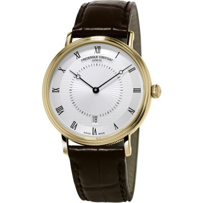 Frederique Constant Slim Line Herrenuhr in Braun FC-306MC4S35