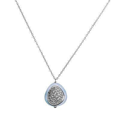 Biżuteria damska Shimla Jewellery Necklace With Aquamarine and Cz SH274