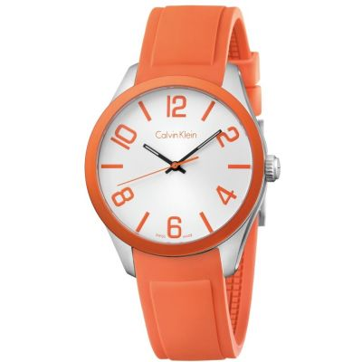 Calvin Klein Colour Unisexuhr in Orange K5E51YY6