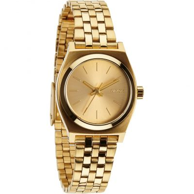 Nixon The Small Time Teller Damenuhr in Gold A399-502