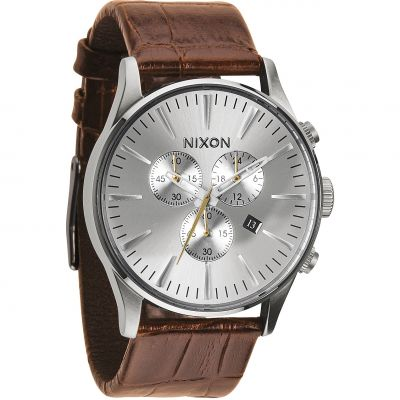 Montre Chronographe Homme Nixon The Sentry Chrono Leather A405-1888