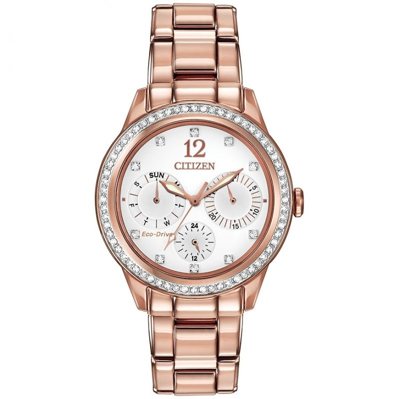 Image of  			   			  			   			  Ladies Citizen Silhouette Crystal Watch