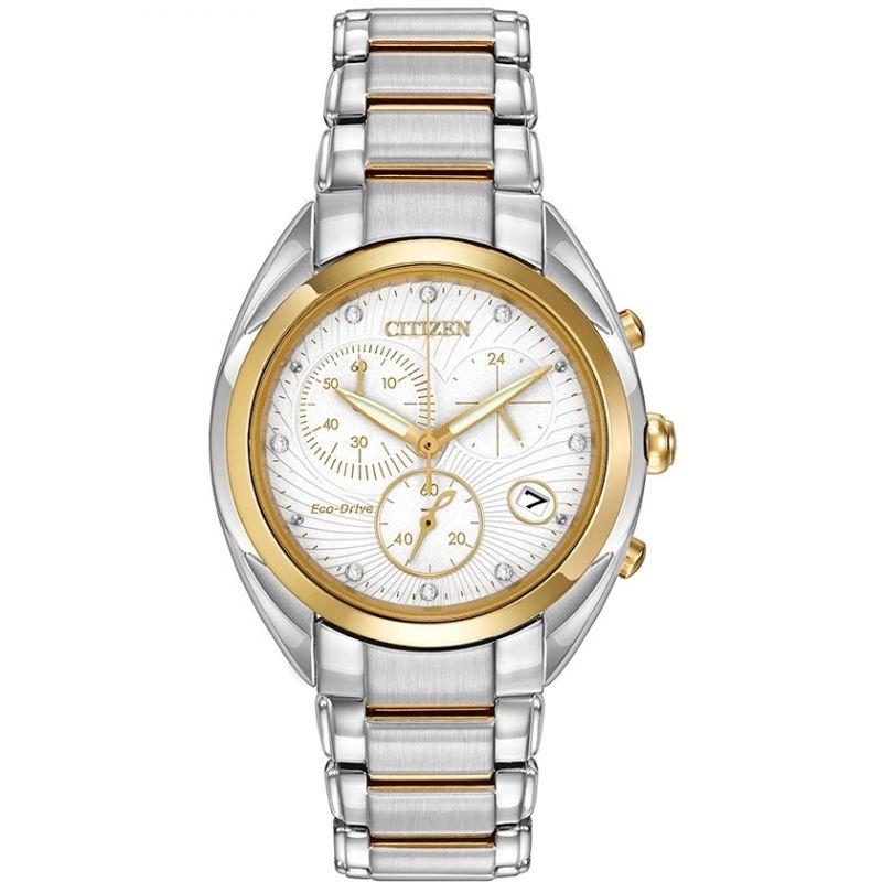 Ladies Citizen Chronograph Diamond Watch