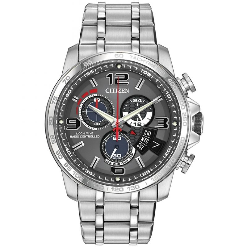 Mens Citizen Chrono Time A-T Alarm Chronograph Radio Controlled Watch