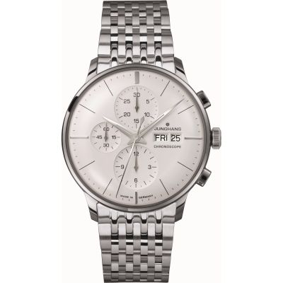 Mens Junghans Meister Chronoscope Automatic Chronograph Watch 027/4121.44