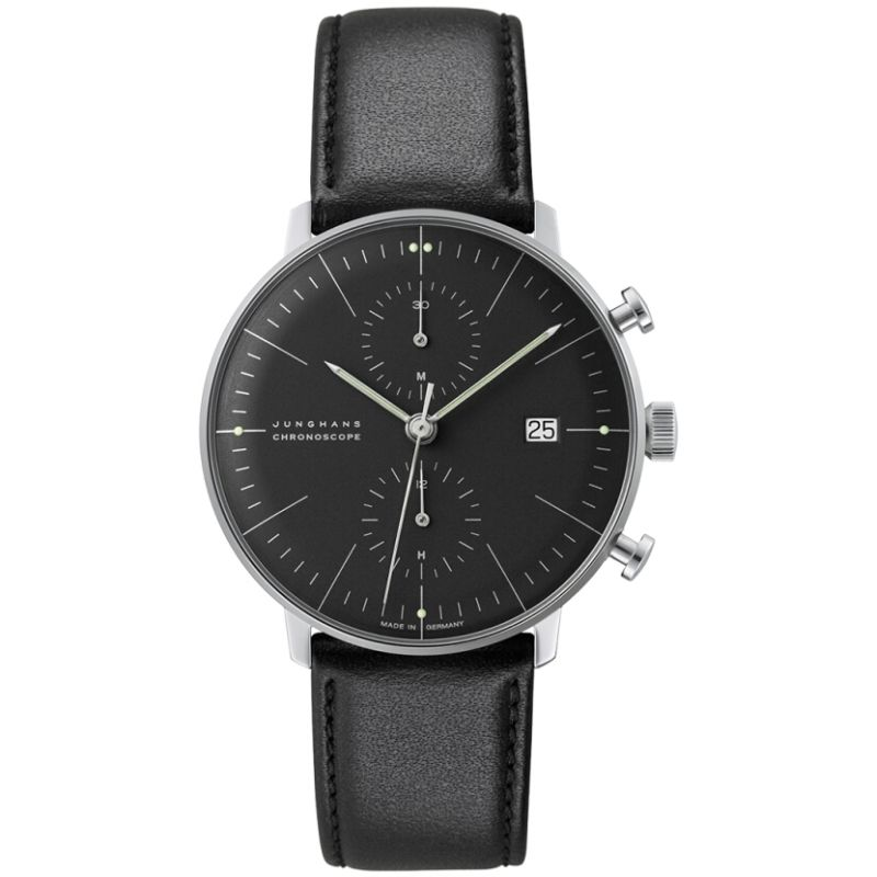 Mens Junghans Max Bill Chronoscope Automatic Chronograph Watch 027/4601.00