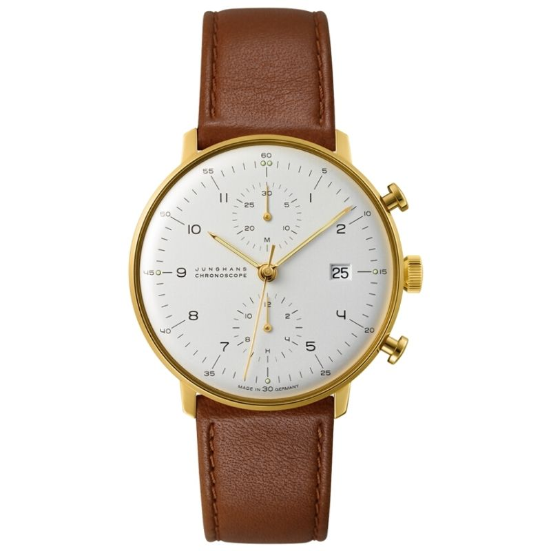 Mens Junghans Max Bill Chronoscope Automatic Chronograph Watch 027/7800.00