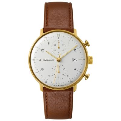 Junghans Max Bill Chronoscope Herrenchronograph in Braun 027/7800.00