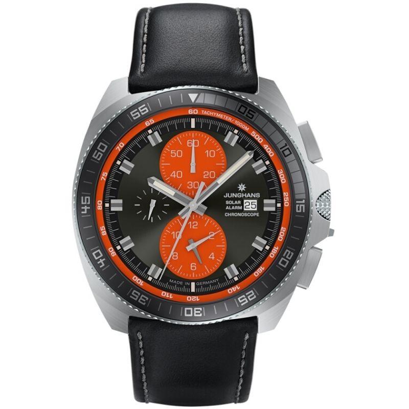 Mens Junghans 1972 Chronoscope Solar Alarm Chronograph Solar Powered Watch