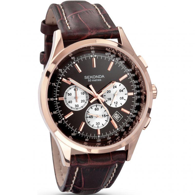Mens Sekonda Midnight Chronograph Watch