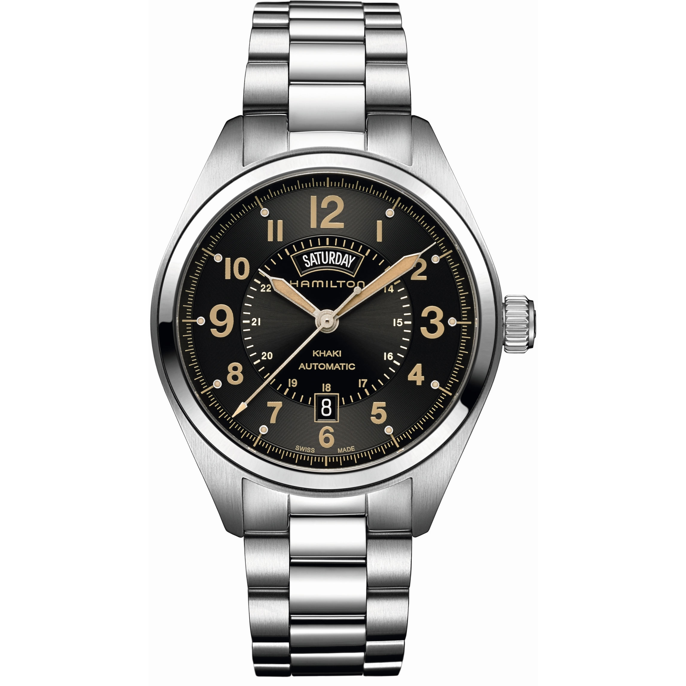 8e9c6cc8da90 Gents Hamilton Khaki Field Day-Date Watch (H70505933)