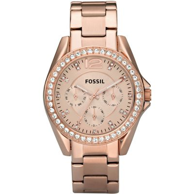 Fossil Riley Dameshorloge Rose ES2811
