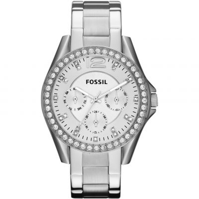 Fossil Riley Damenuhr in Silber ES3202