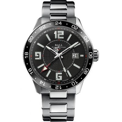 Mens Ball Engineer Master II Pilot GMT Automatic Watch GM3090C-SAJ-BK