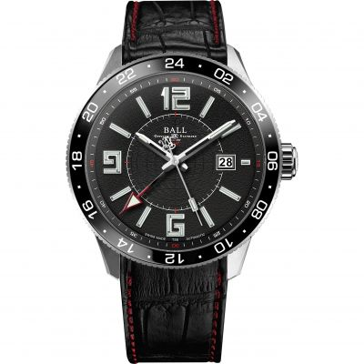 Ball Engineer Master II Pilot GMT Herrenuhr in Schwarz GM3090C-LLAJ-BK
