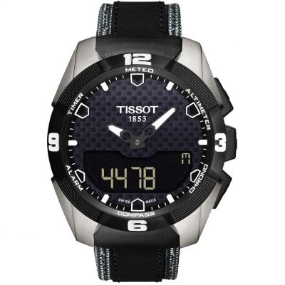 Mens Tissot T-Touch Expert Solar Alarm Chronograph Solar Powered Watch T0914204605101