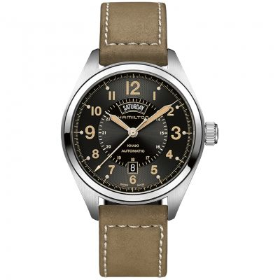 Hamilton Khaki Field Day-Date Herrenuhr in Braun H70505833