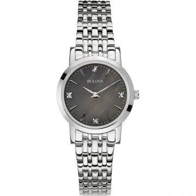 Ladies Bulova Diamond Gallery Watch 96P148
