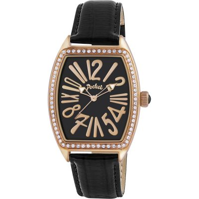 Ladies Pocket-Watch Tonneau Crystal Medio Watch PK2039