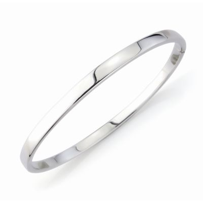 Jewellery 9ct White Gold White Bangle